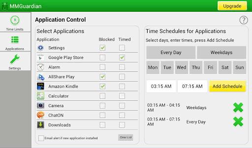 MMGuardian application control