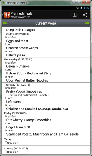 How to add Planned Meals in Food Planner.