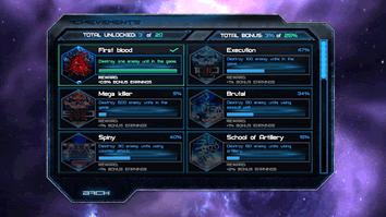 Achievements in Cosmo Battles.