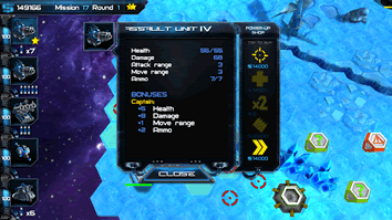 Tap on a ship to get a look at its stats and abilities.