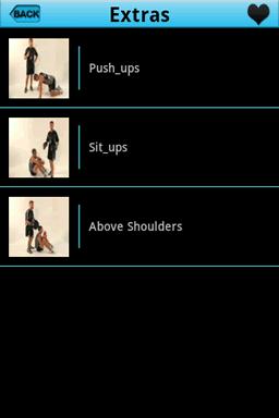 Video presentations for push-ups, sit-ups, above shoulders