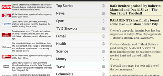 Tap on a newspaper, then on a section and after that on a news item, shown in Easyview above