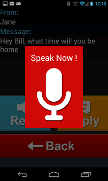 Ultimate Car Dock's voice recognition taking commands.