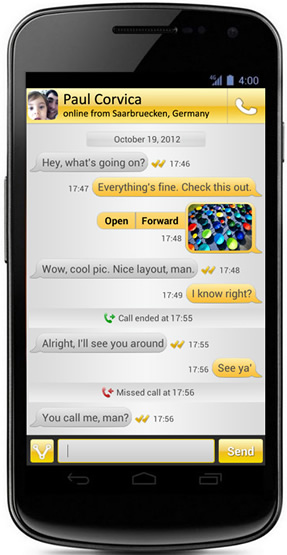 VPHO chat, with geo-location