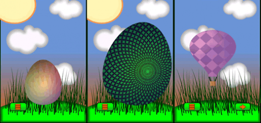 Gameplay in egg popper, tap on eggs until they break