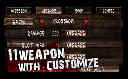 You can upgrade your character and weapons.