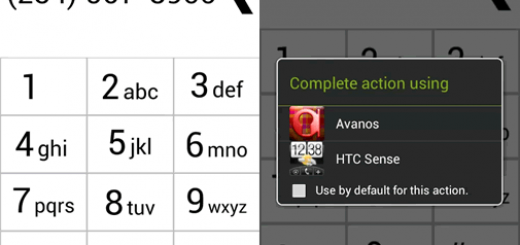 Main interface with a dialer in Avanos