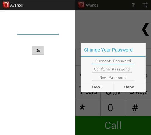 Avanos is password protected.
