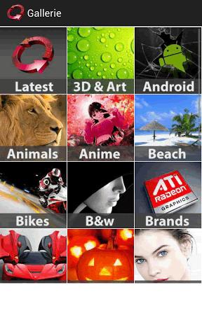 HD wallpaper categories in AWS.