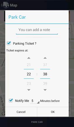 Parking ticket reminder.
