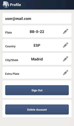 Editing your profile on HiCarPlate
