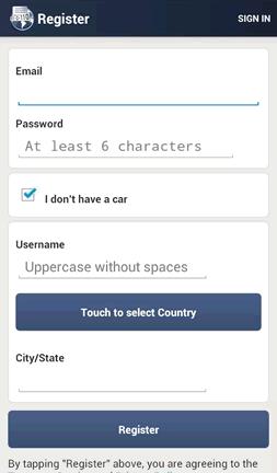 Registering on HiCarPlate