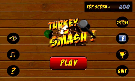 Dashboard for Turkey Smash