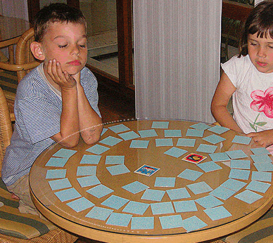 A typical game of Concentration