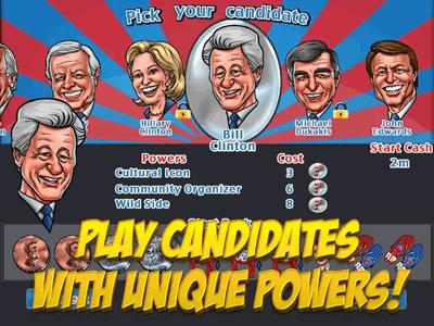 Candidates have unique power